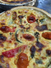 Homemade Roast Vegetable Quiche